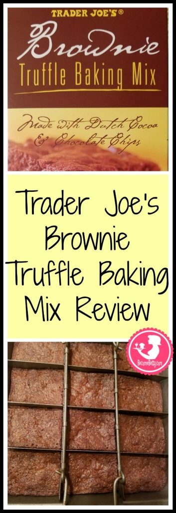 Trader Joe's Brownie Truffle Baking Mix review. Want to know if this is something worth putting on your shopping list from Trader Joe's? All pins link to BecomeBetty.com where you can find reviews, pictures, thoughts, calorie counts, nutritional information, how to prepare, allergy information, price, and how to prepare each product.