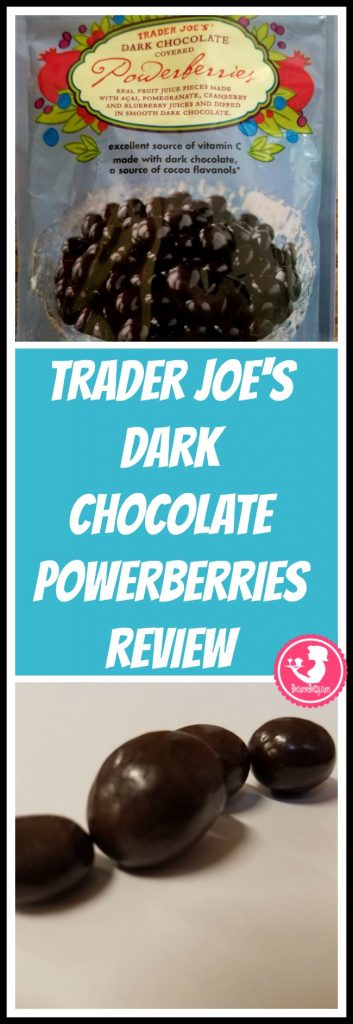 Trader Joe's Dark Chocolate Powerberries review. Want to know if this is something worth putting on your shopping list from Trader Joe's? All pins link to BecomeBetty.com where you can find reviews, pictures, thoughts, calorie counts, nutritional information, how to prepare, allergy information, price, and how to prepare each product.