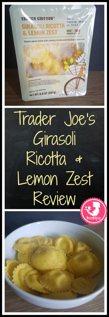 Trader Joe's Girasoli Ricotta and Lemon Zest review. Want to know if this is something worth putting on your shopping list from Trader Joe's? All pins link to BecomeBetty.com where you can find reviews, pictures, thoughts, calorie counts, nutritional information, how to prepare, allergy information, price, and how to prepare each product.