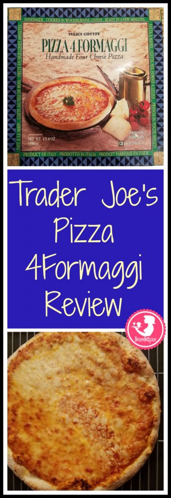 Trader Joe's Pizza 4Formaggi review. Want to know if this is something worth putting on your shopping list from Trader Joe's? All pins link to BecomeBetty.com where you can find reviews, pictures, thoughts, calorie counts, nutritional information, how to prepare, allergy information, price, and how to prepare each product.