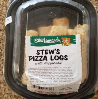 Stew Leonard's Pizza Logs packaging