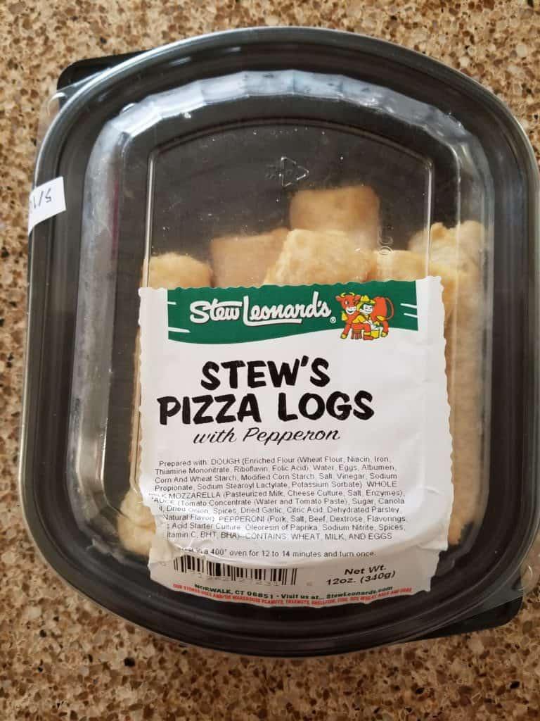 Stew Leonard's Pizza Logs packaging