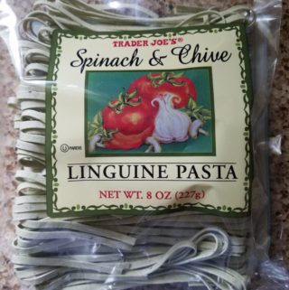 Trader Joe's Spinach and Chive Linguine Pasta