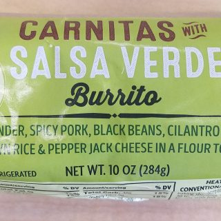 Trader Joe's Carnitas with Salsa Verde Burrito
