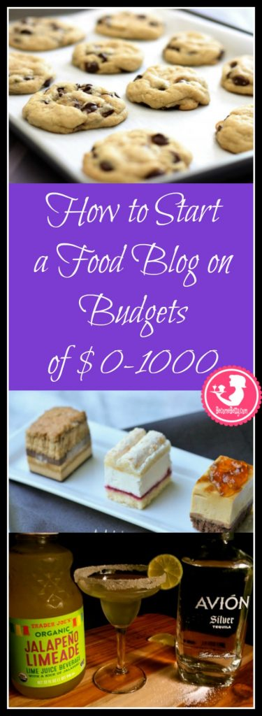 How to Start Your Own Food Blog when you are on a budget. The article handles budgets ranging from no money to budgets up to and including one thousand dollars with links to helpful resources.