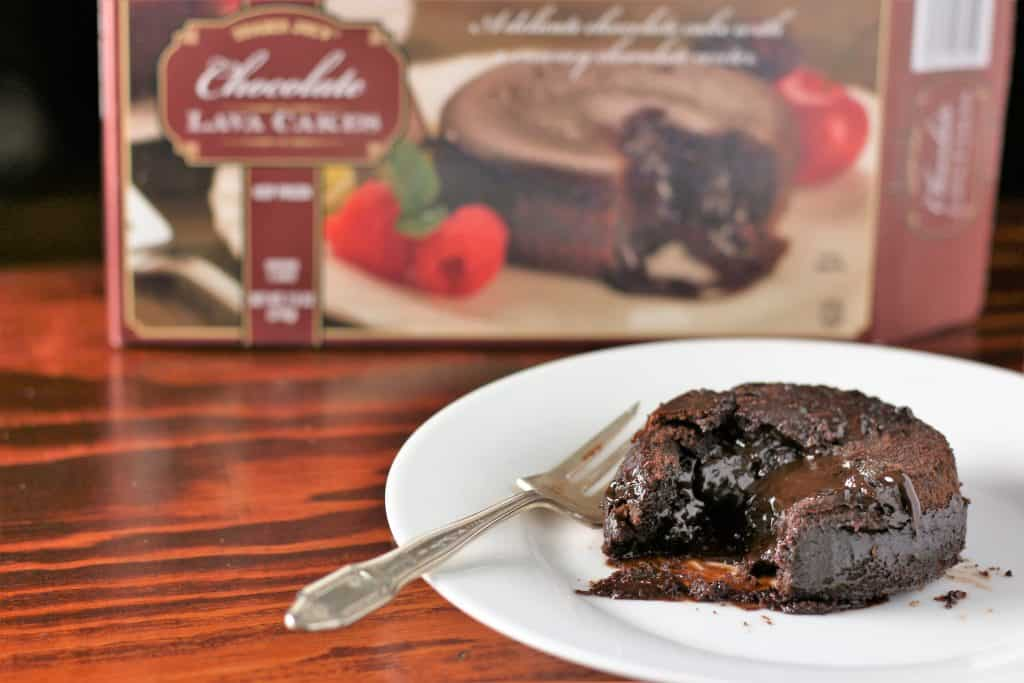 A fully cooked Trader Joe's Chocolate Lava Cakes