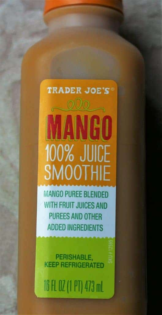 Trader Joe's Mango Smoothie