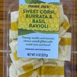 Trader Joe's Sweet Corn, Burrata and Basil Ravioli