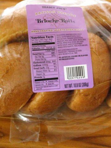 Trader Joe's Artisan Brioche Rolls in an unopened package