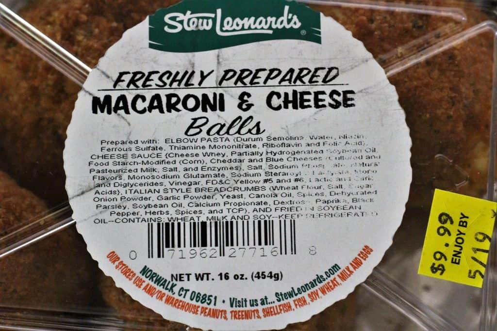 Stew Leonards Mac and Cheese Balls