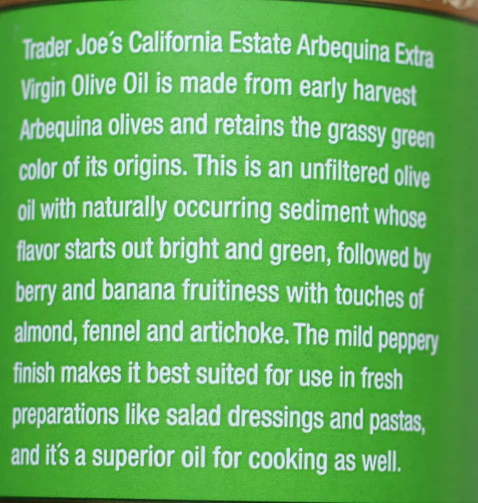 Trader Joe's California Extra Virgin Olive Oil