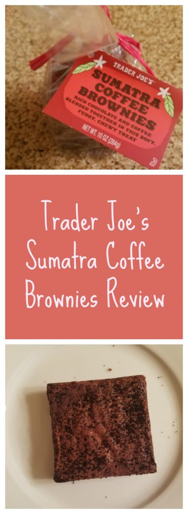 Trader Joe's Sumatra Coffee Brownies Review. Want to know if this is something worth buying from Trader Joe's? All pins link to BecomeBetty.com where you can find reviews, pictures, thoughts, calorie counts, nutritional information, how to prepare, allergy information, and how to prepare each product.