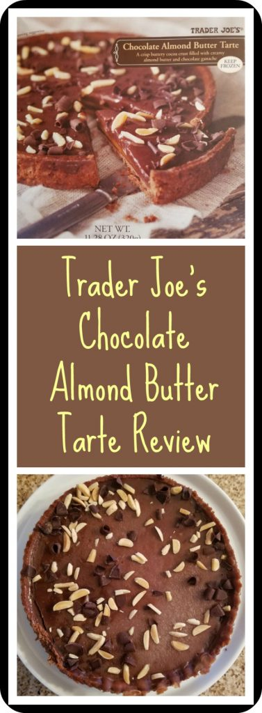 Trader Joe's Chocolate Almond Butter Tarte Review. Want to know if this is something worth buying from Trader Joe's? All pins link to BecomeBetty.com where you can find reviews, pictures, thoughts, calorie counts, nutritional information, how to prepare, allergy information, and how to prepare each product.