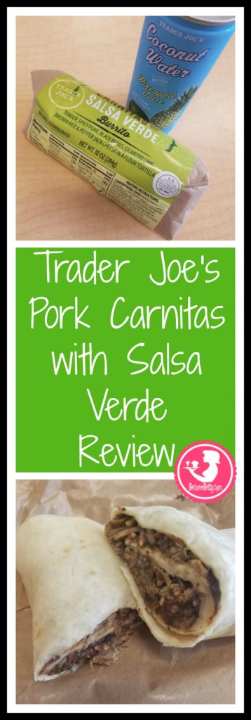 Trader Joe's Pork Carnitas with Salsa Verde is a new product in the refrigerated section of wraps and sandwiches. Want to know if this is something worth buying from Trader Joe's? All pins link to BecomeBetty.com where you can find reviews, pictures, thoughts, calorie counts, nutritional information, how to prepare, allergy information, price and how to prepare each product.