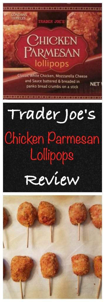Trader Joes Chicken Parmesan Lollipops Review. Want to know if this is something worth buying from Trader Joe's? All pins link to BecomeBetty.com where you can find reviews, pictures, thoughts, calorie counts, nutritional information, how to prepare, allergy information, and how to prepare each product.