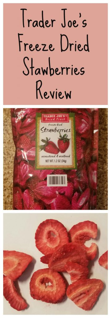 Trader Joes Freeze Dried Strawberries. Want to know if this is something worth buying from Trader Joe's? All pins link to BecomeBetty.com where you can find reviews, pictures, thoughts, calorie counts, nutritional information, how to prepare, allergy information, and how to prepare each product.