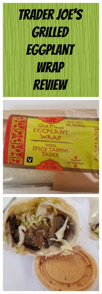 Trader Joes Eggplant Wrap Review. Want to know if this is something worth buying from Trader Joe's? All pins link to BecomeBetty.com where you can find reviews, pictures, thoughts, calorie counts, nutritional information, how to prepare, allergy information, and how to prepare each product.