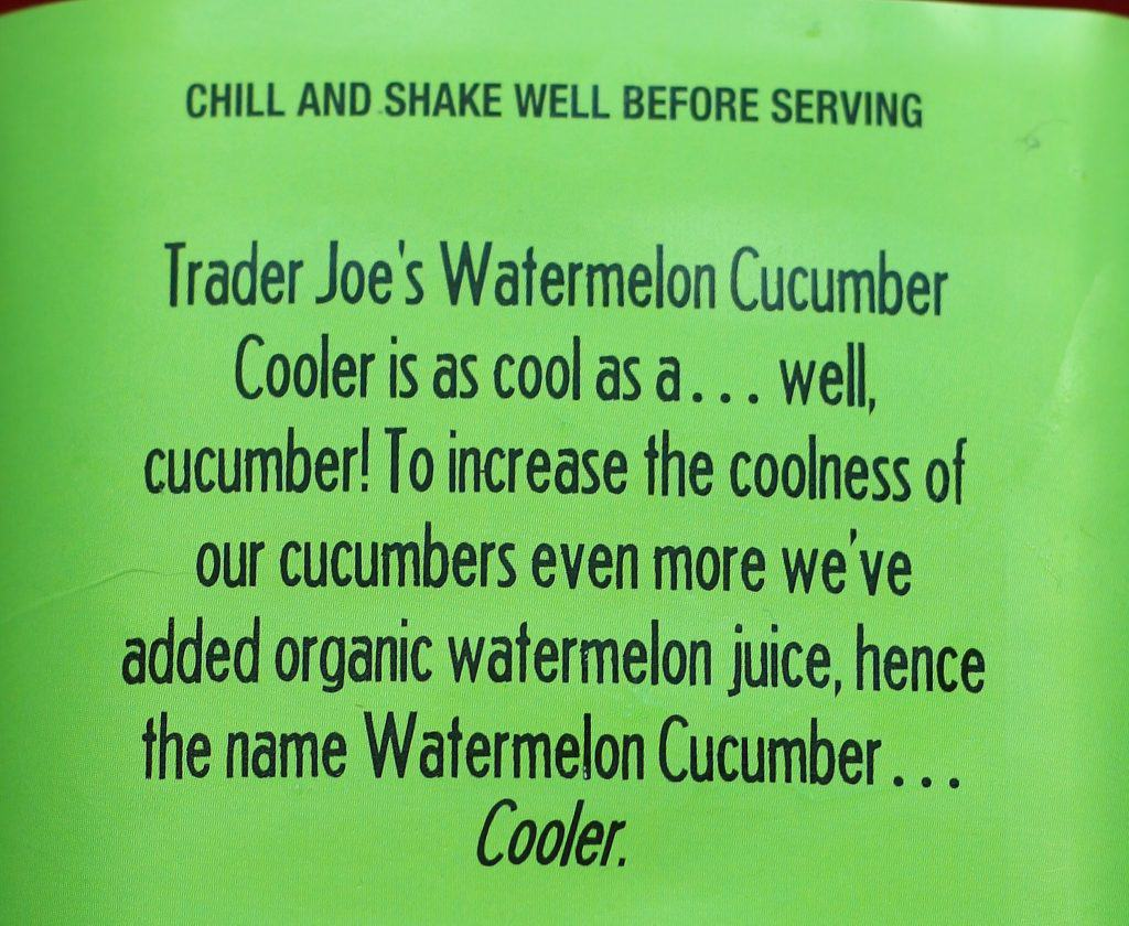 Trader Joe's Watermelon Cooler