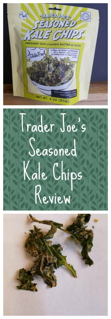 Trader Joes Seasoned Kale Chips Review. Want to know if this is something worth buying from Trader Joe's? All pins link to BecomeBetty.com where you can find reviews, pictures, thoughts, calorie counts, nutritional information, how to prepare, allergy information, and how to prepare each product.