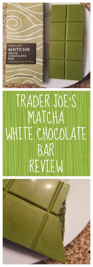 Trader Joes Matcha White Chocolate Bar review. Want to know if this is something worth buying from Trader Joe's? All pins link to BecomeBetty.com where you can find reviews, pictures, thoughts, calorie counts, nutritional information, how to prepare, allergy information, and how to prepare each product.