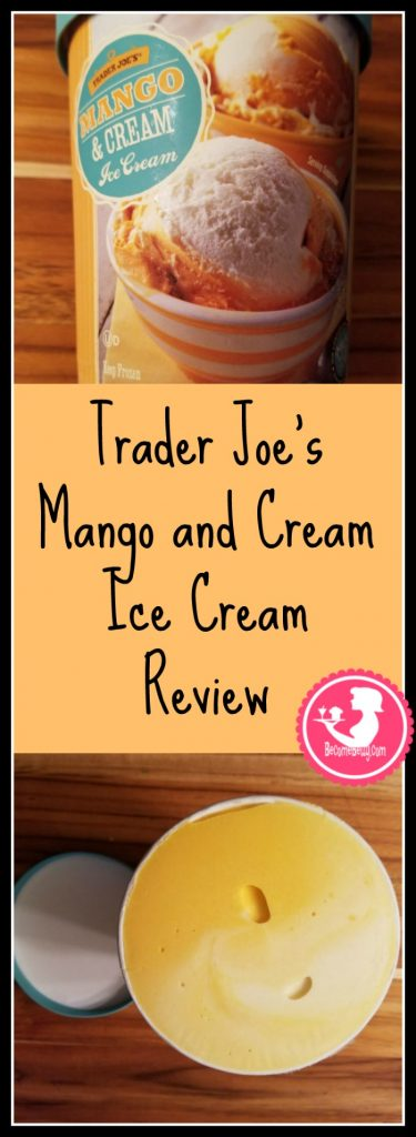 Trader Joes Mango and Cream Ice Cream Review features picture and product thoughts on this delicious seasonal item. Want to know if this is something worth buying from Trader Joe's? All pins link to BecomeBetty.com where you can find reviews, pictures, thoughts, calorie counts, nutritional information, how to prepare, allergy information, and how to prepare each product.