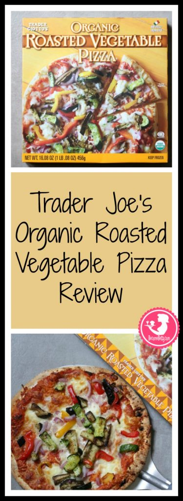 Trader Joe's Organic Roasted Vegetable Pizza review. Want to know if this is something worth buying from Trader Joe's? All pins link to BecomeBetty.com where you can find reviews, pictures, thoughts, calorie counts, nutritional information, how to prepare, allergy information, and how to prepare each product.