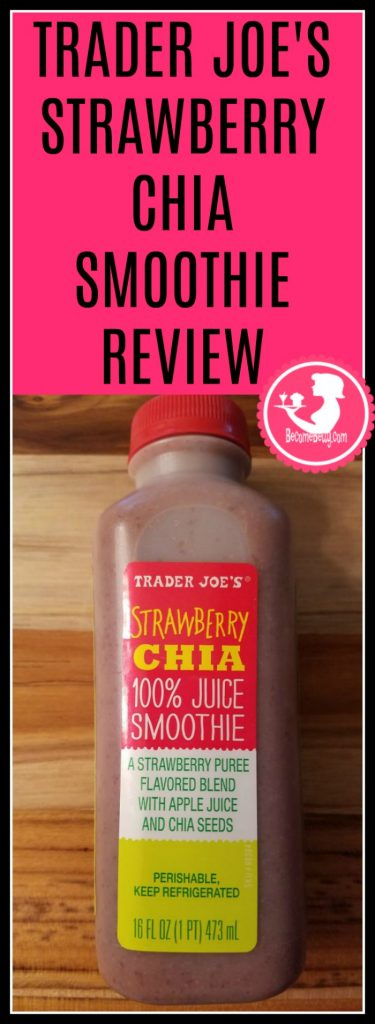 Trader Joes Strawberry Chia Smoothie Review. Want to know if this is something worth buying from Trader Joe's? All pins link to BecomeBetty.com where you can find reviews, pictures, thoughts, calorie counts, nutritional information, how to prepare, allergy information, and how to prepare each product.