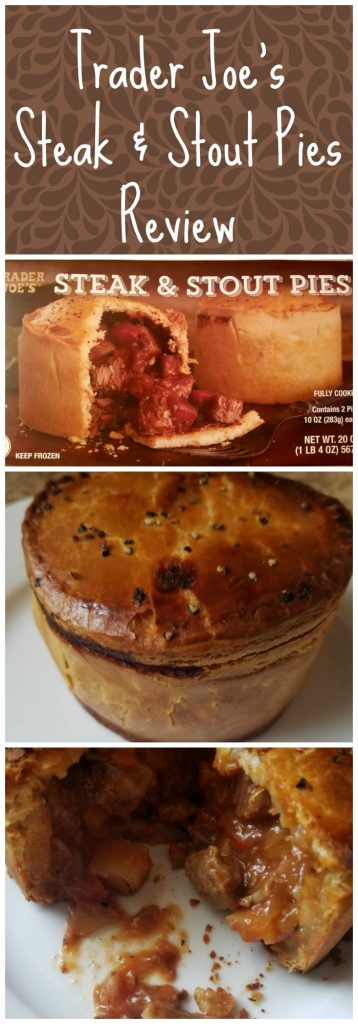 Trader Joes Steak and Stout Pie review. Want to know if this is something worth buying from Trader Joe's? All pins link to BecomeBetty.com where you can find reviews, pictures, thoughts, calorie counts, nutritional information, how to prepare, allergy information, and how to prepare each product.