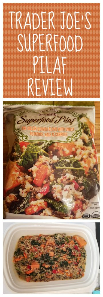 Trader Joes Organic Superfood Pilaf Review. Want to know if this is something worth buying from Trader Joe's? All pins link to BecomeBetty.com where you can find reviews, pictures, thoughts, calorie counts, nutritional information, how to prepare, allergy information, and how to prepare each product.