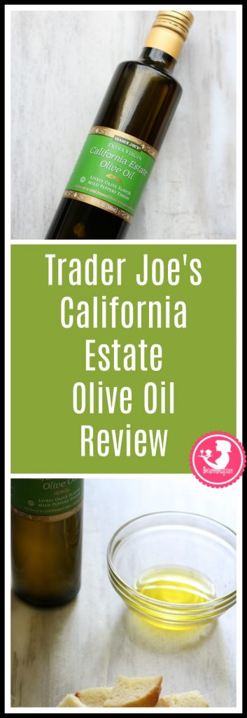 Trader Joe's California Estate Olive Oil review. Want to know if this is something worth buying from Trader Joe's? All pins link to BecomeBetty.com where you can find reviews, pictures, thoughts, calorie counts, nutritional information, how to prepare, allergy information, price, and how to prepare each product.