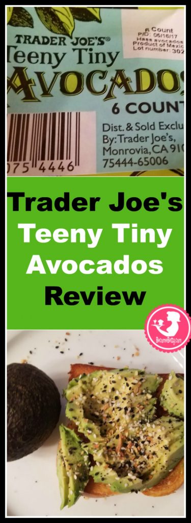 Trader Joe's Teeny Tiny Avocados are neither teeny nor tiny but more of a single serve avocado. Want to know if this is something worth buying from Trader Joe's? All pins link to BecomeBetty.com where you can find reviews, pictures, thoughts, calorie counts, nutritional information, how to prepare, allergy information, and how to prepare each product.