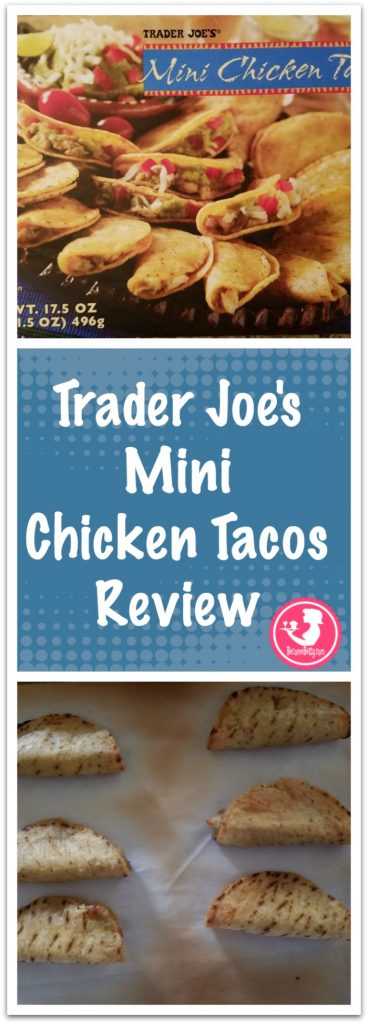 Trader Joes Mini Chicken Tacos review. Want to know if this is something worth buying from Trader Joe's? All pins link to BecomeBetty.com where you can find reviews, pictures, thoughts, calorie counts, nutritional information, how to prepare, allergy information, and how to prepare each product.