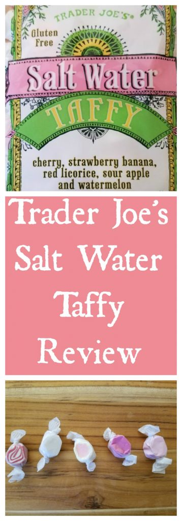 Trader Joes Salt Water Taffy Review. Want to know if this is something worth buying from Trader Joe's? All pins link to BecomeBetty.com where you can find reviews, pictures, thoughts, calorie counts, nutritional information, how to prepare, allergy information, and how to prepare each product.