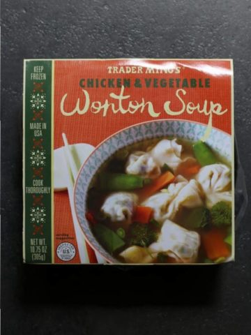 Trader Joe's Chicken and Vegetable Wonton Soup