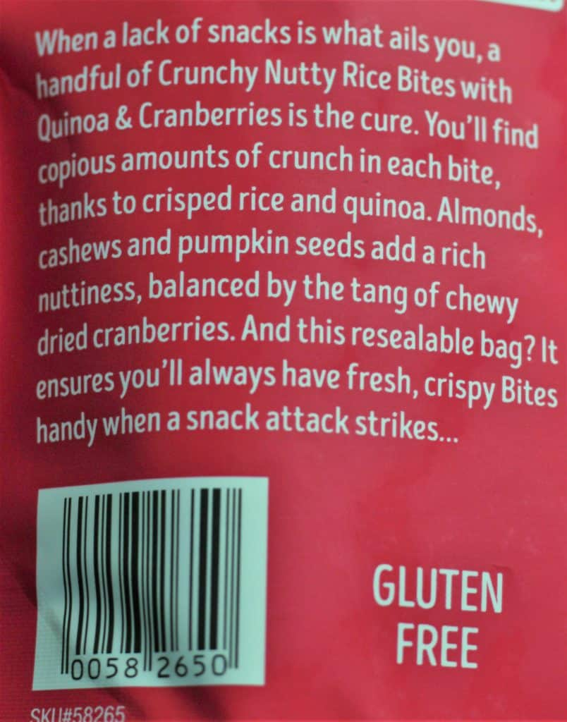 Trader Joe's Crunchy Nutty Rice Bites