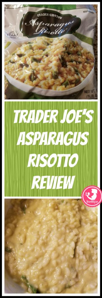 Trader Joe's Asparagus Risotto review. Want to know if this is something worth putting on your shopping list from Trader Joe's? All pins link to BecomeBetty.com where you can find reviews, pictures, thoughts, calorie counts, nutritional information, how to prepare, allergy information, price, and how to prepare each product.