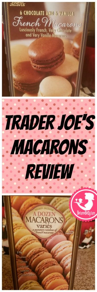 Trader Joe's Macarons both vanilla and chocolate and the multi flavor pack review. Want to know if this is something worth putting on your shopping list from Trader Joe's? All pins link to BecomeBetty.com where you can find reviews, pictures, thoughts, calorie counts, nutritional information, how to prepare, allergy information, price, and how to prepare each product.