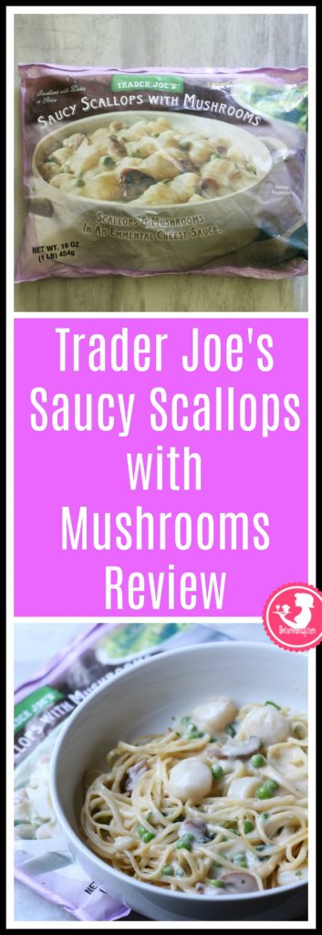 Trader Joe's Saucy Scallops with Mushrooms review. Want to know if this is something worth putting on your shopping list from Trader Joe's? All pins link to BecomeBetty.com where you can find reviews, pictures, thoughts, calorie counts, nutritional information, how to prepare, allergy information, price, and how to prepare each product.