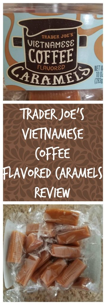 Trader Joes Vietnamese Coffee Flavored Caramels review. Want to know if this is something worth buying from Trader Joe's? All pins link to BecomeBetty.com where you can find reviews, pictures, thoughts, calorie counts, nutritional information, how to prepare, allergy information, and how to prepare each product.