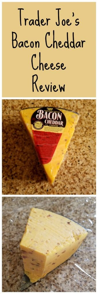 Trader Joes Bacon Cheddar Cheese review.  Want to know if this is something worth buying from Trader Joe's? All pins link to BecomeBetty.com where you can find reviews, pictures, thoughts, calorie counts, nutritional information, how to prepare, allergy information, and how to prepare each product.