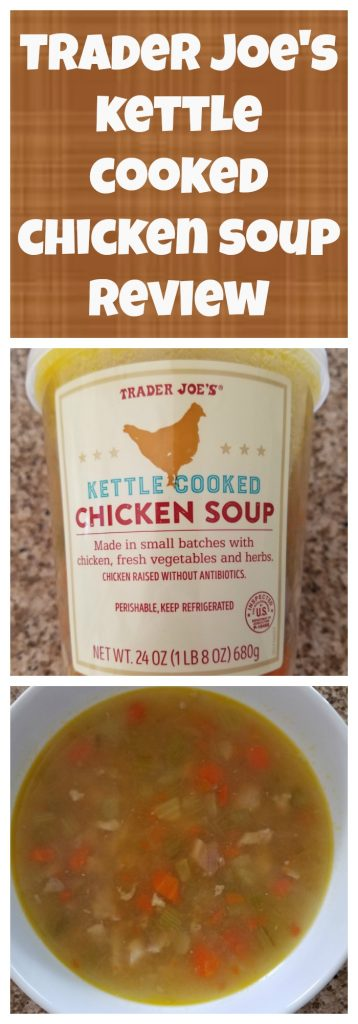 Trader Joes Kettle Cooked Chicken Soup review. Want to know if this is something worth buying from Trader Joe's? All pins link to BecomeBetty.com where you can find reviews, pictures, thoughts, calorie counts, nutritional information, how to prepare, allergy information, and how to prepare each product.
