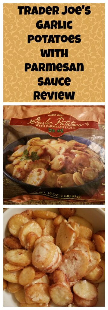 Trader Joes Garlic Potatoes with Parmesan Sauce review. Want to know if this is something worth buying from Trader Joe's? All pins link to BecomeBetty.com where you can find reviews, pictures, thoughts, calorie counts, nutritional information, how to prepare, allergy information, and how to prepare each product.