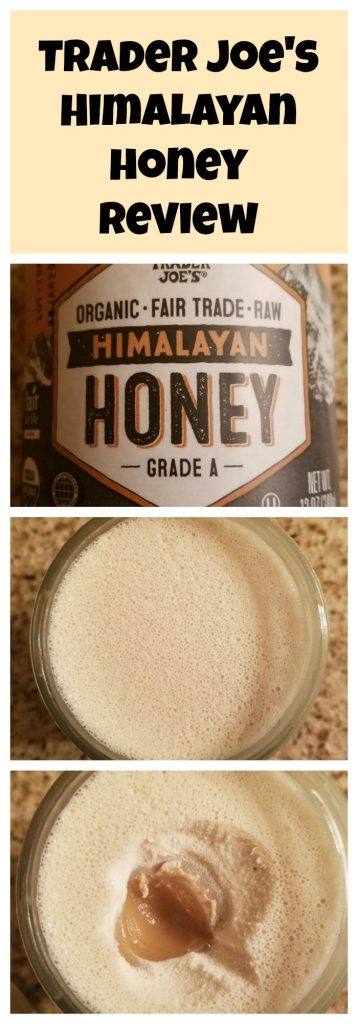 Trader Joes Himalayan Honey Review. Want to know if this is something worth buying from Trader Joe's? All pins link to BecomeBetty.com where you can find reviews, pictures, thoughts, calorie counts, nutritional information, how to prepare, allergy information, and how to prepare each product.