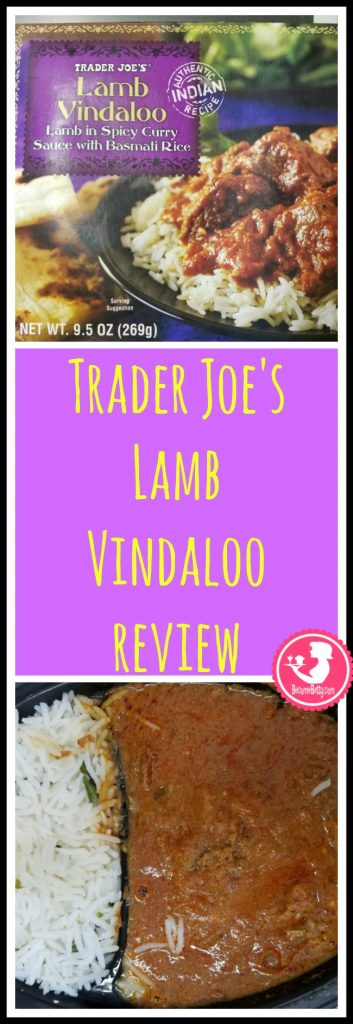 Trader Joe's Lamb Vindaloo review. Want to know if this is something worth putting on your shopping list from Trader Joe's? All pins link to BecomeBetty.com where you can find reviews, pictures, thoughts, calorie counts, nutritional information, how to prepare, allergy information, price, and how to prepare each product.