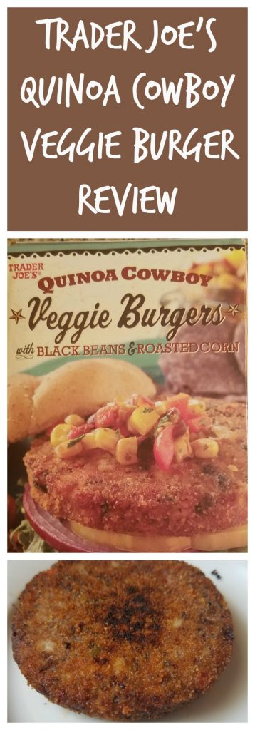 Trader Joes Quinoa Cowboy Veggie Burger review. Want to know if this is something worth buying from Trader Joe's? All pins link to BecomeBetty.com where you can find reviews, pictures, thoughts, calorie counts, nutritional information, how to prepare, allergy information, and how to prepare each product.