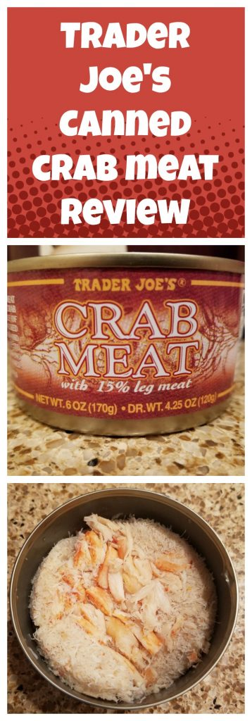 Trader Joes Canned Crab Meat review. Want to know if this is something worth buying from Trader Joe's? All pins link to BecomeBetty.com where you can find reviews, pictures, thoughts, calorie counts, nutritional information, how to prepare, allergy information, and how to prepare each product.