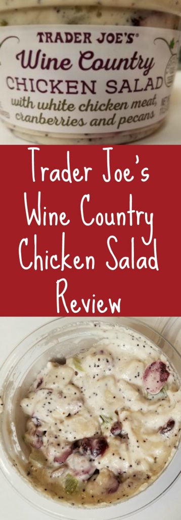 Trader Joes Wine Country Chicken Salad review. Want to know if this is something worth buying from Trader Joe's? All pins link to BecomeBetty.com where you can find reviews, pictures, thoughts, calorie counts, nutritional information, how to prepare, allergy information, and how to prepare each product.