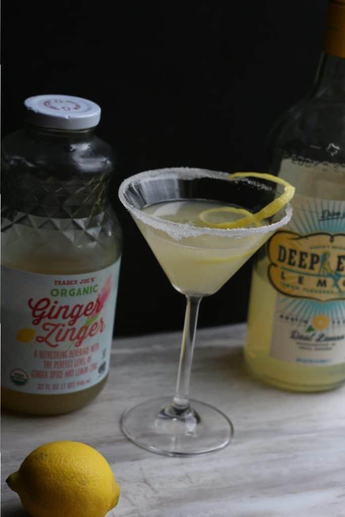 Ginger Zinger Lemon Drop Martini