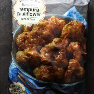 Trader Joe's Kung Pao Tempora Cauliflower