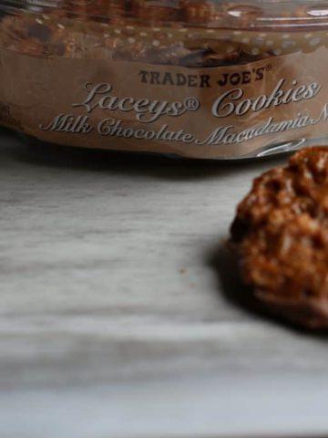 Trader Joe's Laceys Cookies Milk Chocolate Macadamia Nut